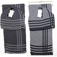 Шапка +шарфик для мужчин Арт. 03002