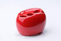 Стакан (держатель) для зубных щеток и пасты Нора красный