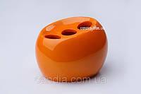 Стакан (держатель) для зубных щеток Нора оранжевый