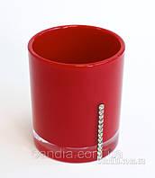Стакан для зубных щеток и пасты серия Рома цвет красный