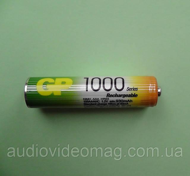 Аккумулятор микропальчиковый 1000 мАч R03 ААА (NiMH) цена за 1 шт