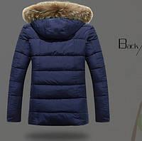 Мужская зимняя куртка с капюшоном. Модель 866, фото 5