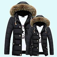 Мужская зимняя куртка с капюшоном. Модель 866, фото 2