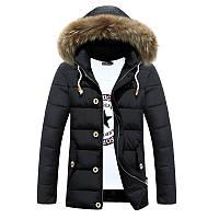 Мужская зимняя куртка с капюшоном. Модель 866, фото 4