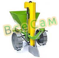 Картофелесажалка КСМ-2 с транспортировочными колесами для мотоблока