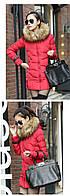 Женский зимний пуховик, женская зимняя куртка. Модель 4016, фото 4