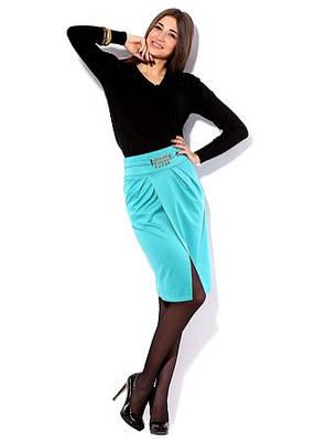 Модная трикотажная юбка. Юбка Интрига