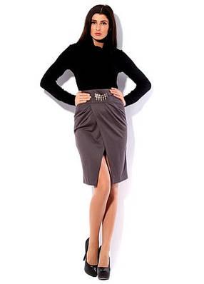 Стильная юбка в офис. Юбка Интрига