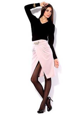 Женская трикотажная юбка с вырезом