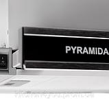 Pyramida TL 60 black glass inox (600 мм.) встраиваемая, телескопическая вытяжка, нержавейка черное стекло, фото 2