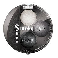 Bourjois Smoky Eyes - Буржуа тени-трио компактные Вес: 4.5гр., Цвет: 07 Серо-голубой