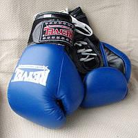 Рукавички боксерські REYVEL, ПРО з застібкою, 12 ун, шкір.