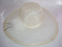 Шляпа кокос с большим полем!