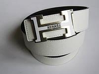 Брендовый ремень 'Hermes' белый