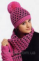 Шапка с шарфом LOMAN 3D