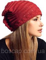 Adel фирма Loman, женская шапка на флисе, терракотовый цвет, фото 1