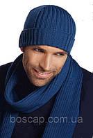 Шапка мужская классическая LOMAN Lewis, шерстяная, цвет синий