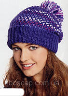 Happiness TM Loman, молодежная женская шапка с бубоном на флисе, фото 1