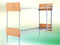 Кровать комбинированная двухъярусная с быльцами ДСП и лестницей