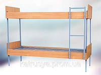 Кровать комбинированная двухъярусная с быльцами ДСП, лестницей и боковыми накладками