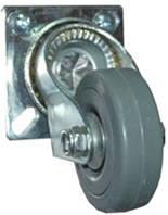 Колесо D=75 mm, на площадке, прорезиненый