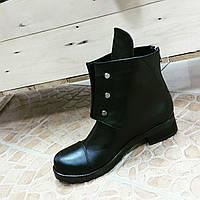 Ботинки Гермес, реплика, кожаные ботиночки на меху, женские полусапоги, кожа натуральная