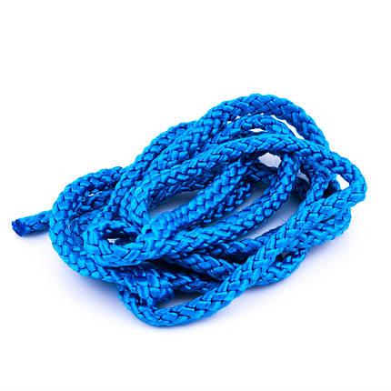 Скакалка гимнастическая синяя Тайвань, фото 2