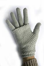 Женские вязаные перчатки, фото 3