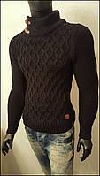 Мужской свитер крупной вязки Турция