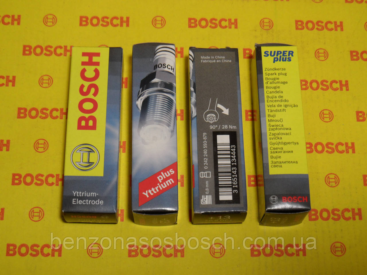 Свечи зажигания BOSCH, FR6DC+, +13, 0.8, Super +, 0242240593, 0 242 240 593,