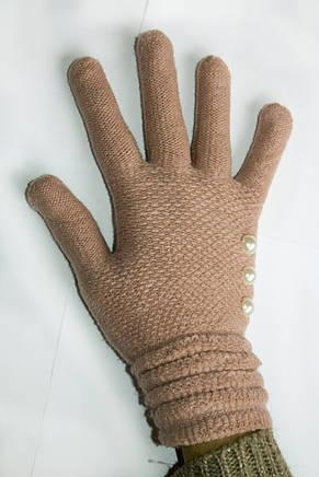 Вязаные перчатки пастельно-розовый, фото 2