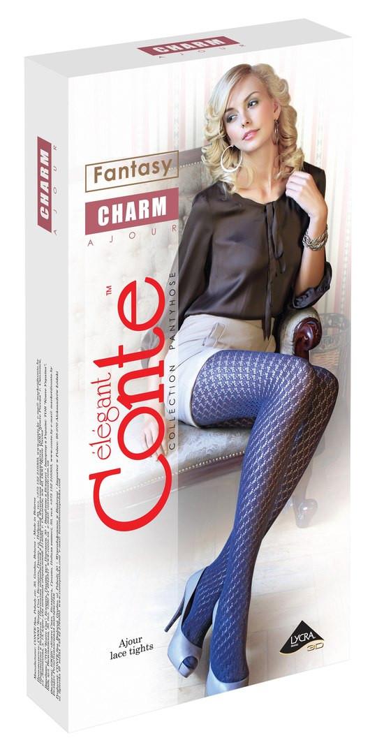 Колготки женские хлопковые ажурные Conte CHARM, р.2-4