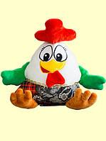 Новогодняя мягкая игрушка-упаковка Петушок с вышивкой
