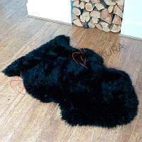 Овечья шкура черного натурального цвета