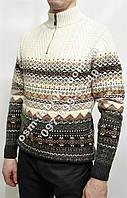 Теплый свитер с коротким замком под горло оптом и в розницу