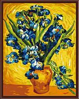 Картина по номерам без коробки Идейка Ирисы в вазе худ Винсент Ван Гог (KHO2013) 40 х 50 см