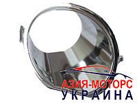 Накладка противотуманной фары (хром) левая Geely МК2 (Джили MK 2)  1018006150-01