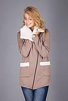 Мягкая и пушистая куртка из теплого трикотажа на меховой основе