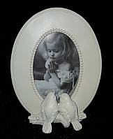 """Рамка овальная для фотографии """"Две птички"""", 21х16 см., 195/150 (цена за 1 шт. + 45 гр.)"""