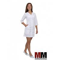 Медицинский халат женский Ибица (белый) №64