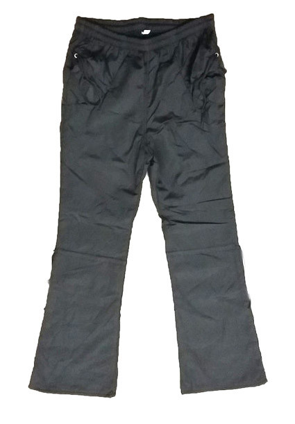 Детские брюки из плащевки на флисе для девочки