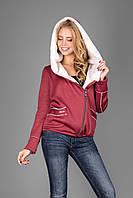 Куртка женская из теплого трикотажа на меховой основе