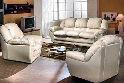 Мягкая мебель из кожи