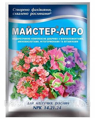 Удобрение Мастер Агро для цветущих растений 14.21.24 (Мастер) 25 гр. Valagro