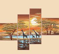 Схема для вышивания бисером Цвета Африки РКП-1012