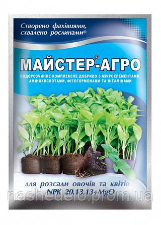 Удобрение Мастер Агро  для рассады цветов и овощей 20.13.13 (Мастер) 25 гр. Valagro