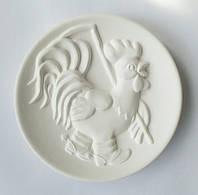 """""""Петух в сапогах"""" декоративная тарелка для росписи с объёмным 3D изображением"""