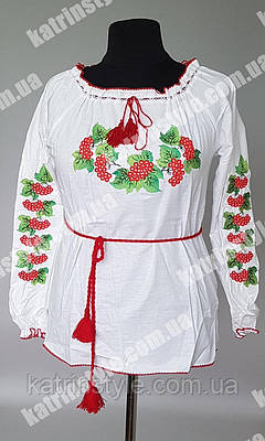 """Вышиванка   женская на льне  """"Калина"""""""