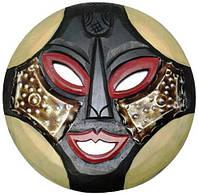 Маска из дерева, Африканская маска, круглая