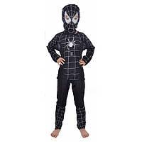 Маскарадный костюм Спайдермен черный (размер S)